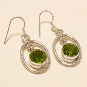 04b5f3481 Image is loading Natural-Egyptian-Peridot-Earring-925-Sterling-Silver-Women-