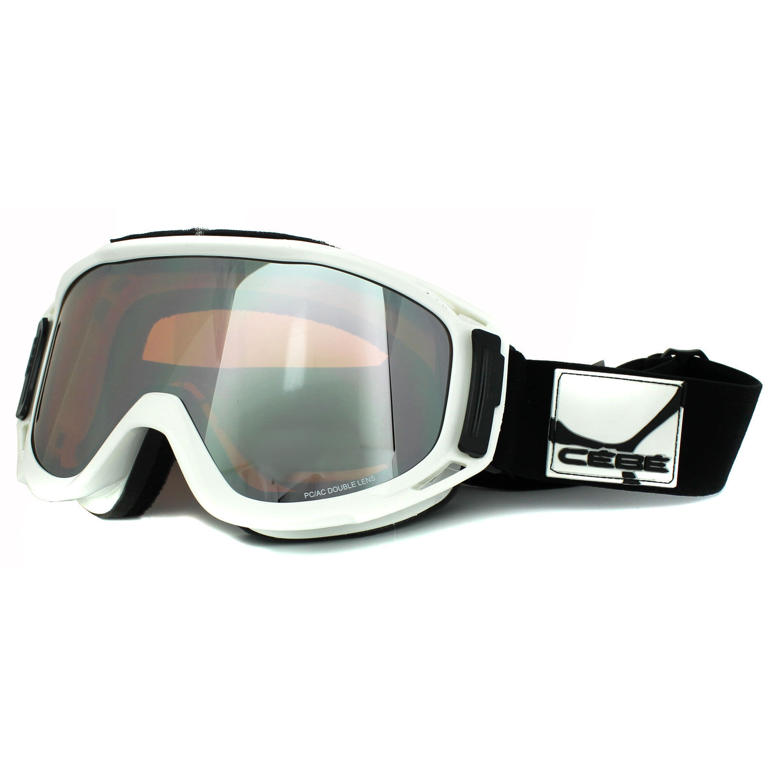 Cebe Ski Snow Goggles Legend 1570B013L White orange Flash Mirror Mens