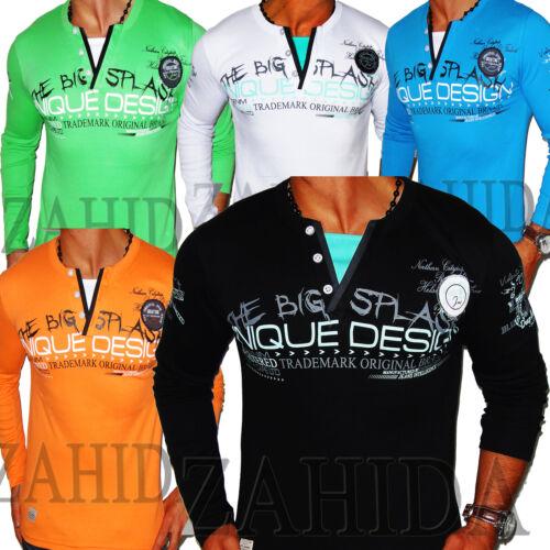 ZAHIDA Uomo Sweat-shirt sexi Camicia Manica Lunga Felpa T-Shirt S-XXL Nuovo