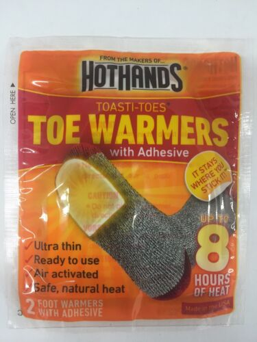 NEW Hot Hands Toe Warmers with Adhesive Up to 8 Hours of Heat 10ct