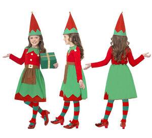 Costume-vestito-Elfo-elfa-aiutante-di-Babbo-Natale-Carnevale-bambina-g4254