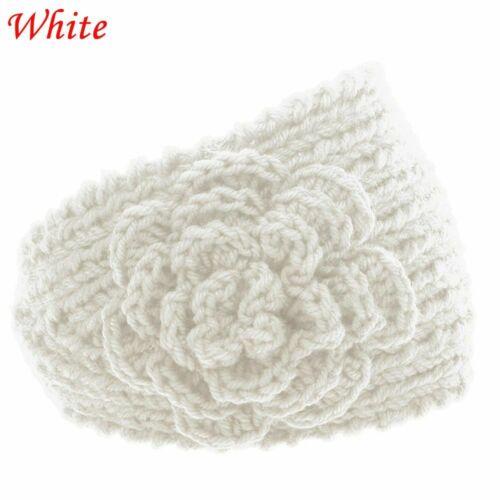 Charm Head Wrap Women Knit Flower Headband Wool Hat Hair Band Crochet Turban