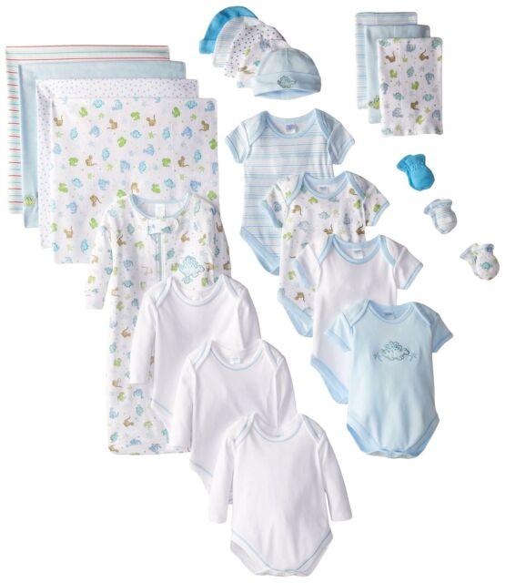 c9d5f5e65 Spasilk 23-piece Essential Newborn Baby Layette Set Blue Boy 0-6 ...