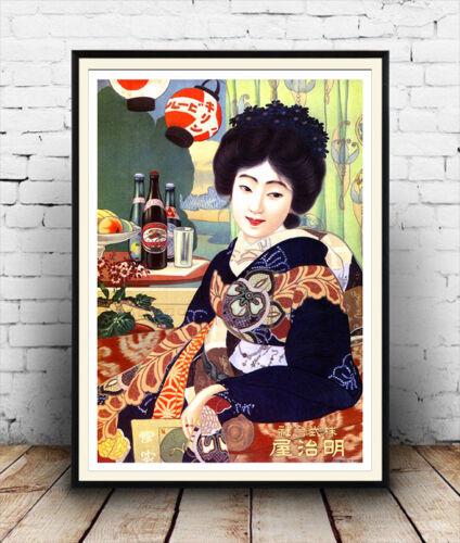 Kirin Beer Vintage Japanese beer advert Reproduction poster Wall art.