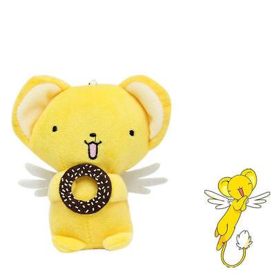 "4/"" Card Captor Sakura Clear Card Kero Keychain  Plush Soft Toy Keyring Gift"