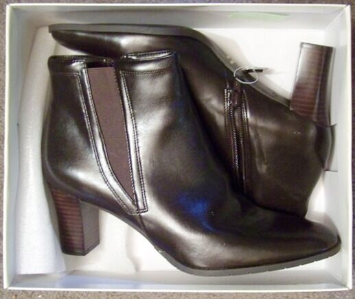Damenschuhe BROWN LEATHER Stiefel - COVINGTON - CAMPBELL - 2 SIZE 10 MED - 2 - 1/2
