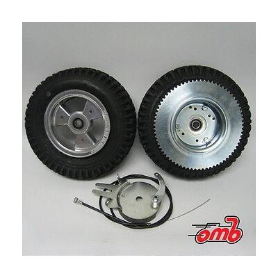 "Complete Mini Bike Go Kart Tire 6"" Tri-Star Wheel 72 Tooth Sprocket Brake AZUSA"