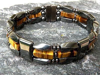Men/'s Woman/'s Magnetic Blue Lapis Lazuli Hematite Bracelet Anklet Necklace 3 row
