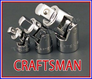 CRAFTSMAN 17pc LOT 1//4 3//8 1//2 ratchet wrench socket extension universal set !!