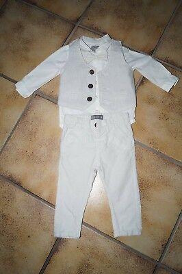 Baby Anzug Kostüm Set Junge Gr. 74 Hemd Hose Weste Fliege Aromatischer Geschmack