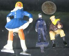 Lot of 3 Vintage Miniature Lead & Plastic Skier & Lionel Watch Men