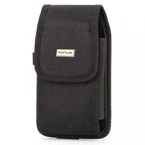 RUGGED-CANVAS-CASE-HOLSTER-SWIVEL-BELT-CLIP-POUCH-COVER-For-LARGE-SMARTPHONES