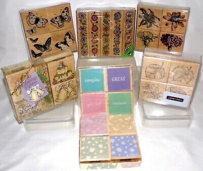 Hero Arts Buttons /& Bows Borders Set Of Six Rubber Stamp LL442