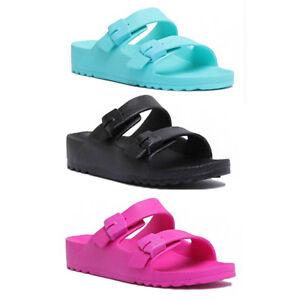b53fad620eca08 Image is loading Scholl-Bahia-Women-Synthetic-Slide-Sandals-Shocking-Pink-