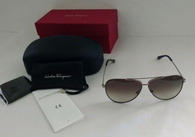 dc3a756990fe Salvatore Ferragamo Sf131sgp Sunglasses 211 Shiny Brown Authorized Dealer  for sale online | eBay