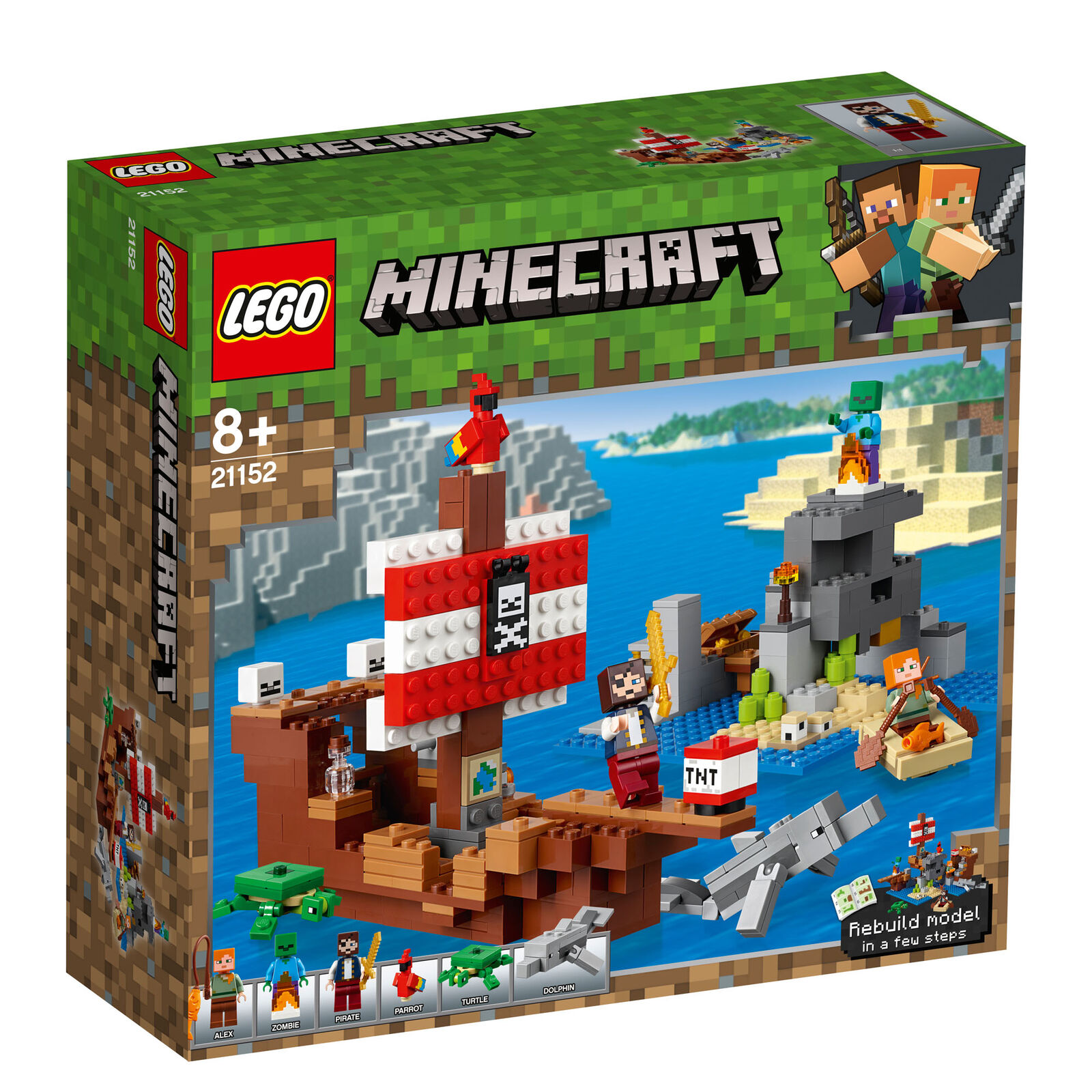 21152 LEGO Minecraft The Pirate Ship Adventure Adventure Adventure 386 Pieces Age 8+ New for 2019 2bced9