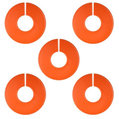 LF 5 New Blank Orange Plastic Clothing Size Dividers Ring Wardrobe Dividers