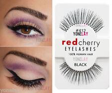Lot 10 Pairs RED CHERRY #412 False Eyelashes Human Hair Lash Fake Eye Lashes