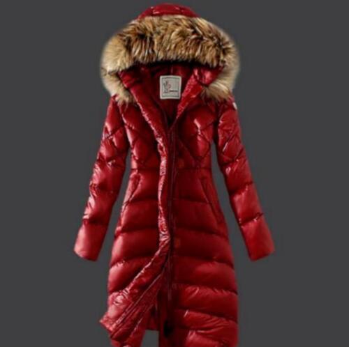 canard Manteau à en capuche fourrure femmes O387 Outwear Slim pour Parka en d'hiver duvet de Long gRq4CR