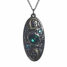 Mythic Celts Moon Shield Pendant Necklace For Clarity and Reflection MY9
