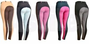 LADIES-AND-GIRLS-TWO-TONE-AND-SELF-SEAT-HORSE-RIDING-JODHPURS-JODPHURS-STRETCHY