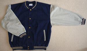 Light-Weight-Dark-Blue-Denim-Baseball-Jacket-Size-S-L-XXL