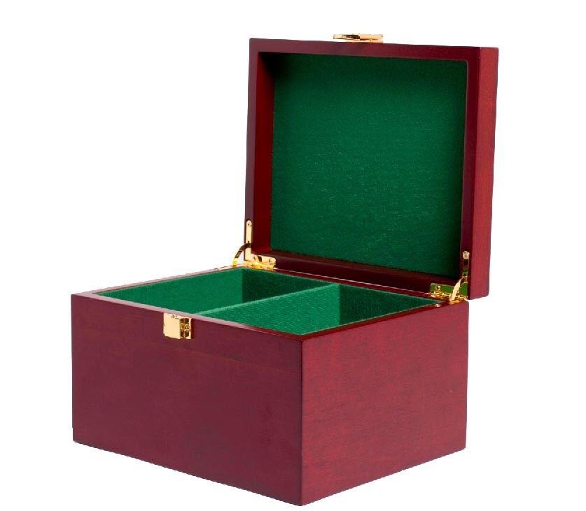 presa di fabbrica Rosso Mahogany Steard Chess Chess Chess scatola  consegna veloce