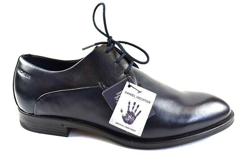 Daniel Hechter Herren Business-Schuhe Leder Dunkelblau Gr 42