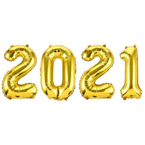 Year Happy New Year Helium Balloon Digit Air Balloons 2021 Number Aluminum Foil^