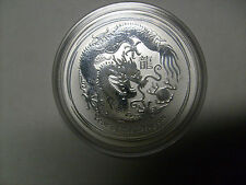 2012 Lunar Year of Dragon Series II 1oz Silver Bullion Coin - Perth Mint 1 oz