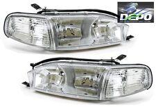 92-94 Toyota Camry Chrome Diamond Headlights + Corners 4PCS SET DEPO