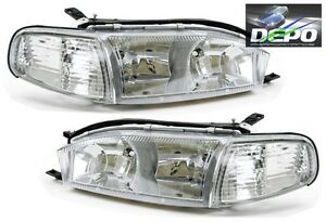 Image Is Loading 4 Pc Combo Chrome Crystal Headlights Corners By