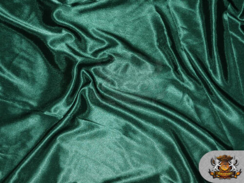 """Satin Crepe Solid Fabric HUNTER GREEN Sold by the yard 60/"""" Wide"""