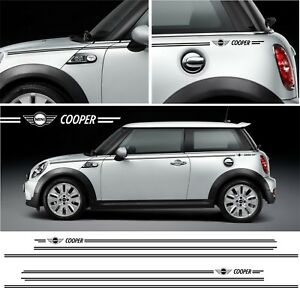 bmw mini cooper stecker streifen aufkleber f56 f55 r56 r50. Black Bedroom Furniture Sets. Home Design Ideas
