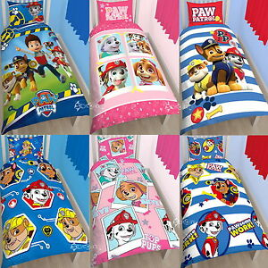 Paw Patrol Single Duvet Cover Bed Set Ryder Chase Rocky