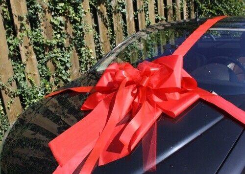 Geschenkschleife Auto extra gross rot 74 x 65 cm