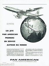 PUBLICITE ADVERTISING 125  1959  PAN AMERICAN  Jet au tour du monde