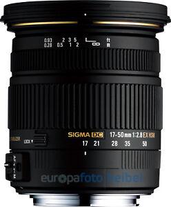 Sigma AF 17-50 mm F 2.8 EX DC HSM für Sony A-Mount A77 A77II A68 A65 usw
