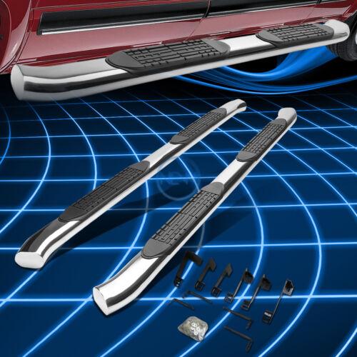 "Chrome Oval Bent 4/"" Side Step Nerf Bar Rail for 1999-2016 GMC Sierra K2XX Crew"