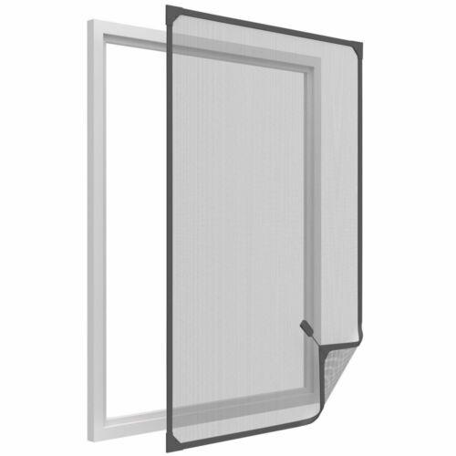 3x Fiberglas Fliegengitter-Fenster-Rahmen anthrazit 120x140cm Magnet-Befestigung