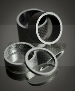 Black Carbon Gloss Spacers 3mm,5mm,10mm,15mm,20mm  Full Sets Head Spacers