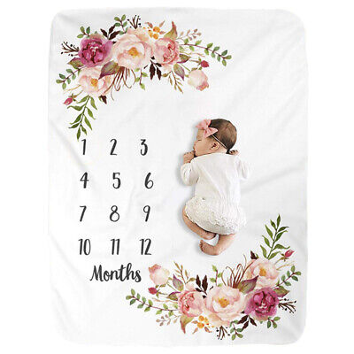 Milestone Newborn Baby Girl Boy Blanket Costume Photo Photography Prop Outfit