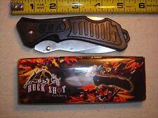 USA POCKET KNIFE 3 1/2'' BLADE BLACK BUCK SHOT - FROST CUTLERY  LOT X1 KNIVES