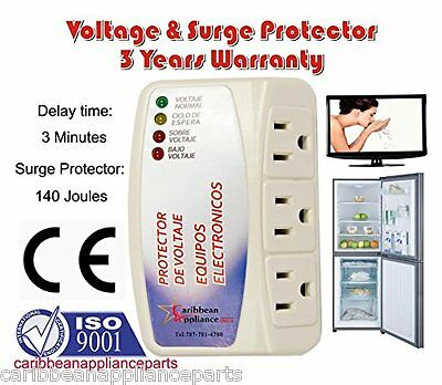 Verenigd Cap-1153 Appliance New Voltage & Surge Protector 3 Outlets /3 Years Warranty