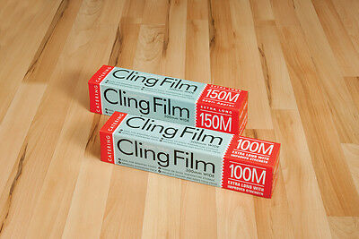 5 X CLING FILM CATERING SIZE KEEP FOOD FRESH PLASTIC WRAP KITCHEN 300mm x 45CM