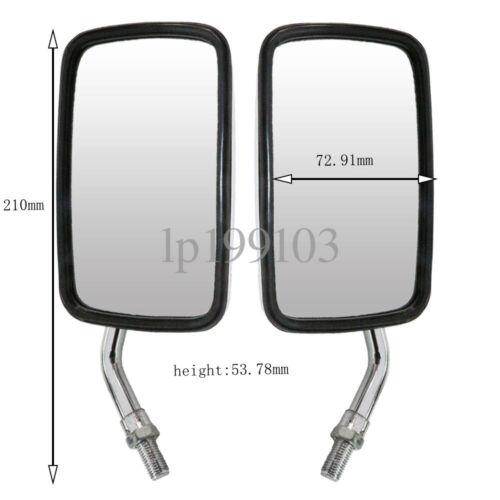 Chrome Rectangular Mirrors For Kawasaki Vulcan VN 1500 1600 Classic Mean Streak