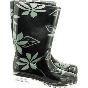 Gummistiefel-Stiefel-Regenbekleidung-Regenkleidung-Blumenmuster-Gr-36-42-NEU