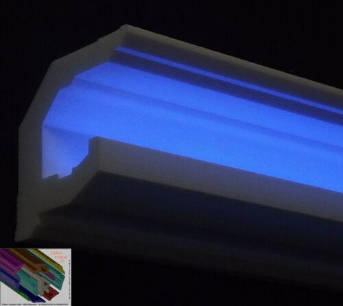 4 I-A Ecken  9cmx9cm  Beleuchtung Stuckleisten Stuckprofil  LED Profil 20 Meter