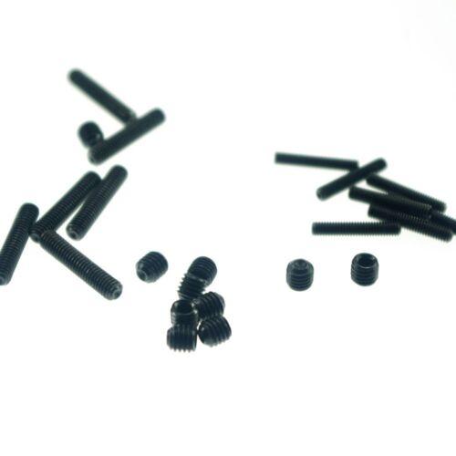 Lot100 M6x25mm Head Hex Socket Set Grub Screws Metric Threaded flat-head