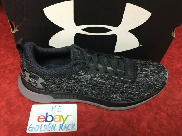9a704a81935 Under Armour Lightning 2 Black Gray Men Running Shoes Sneakers 3000013-100  SZ 10